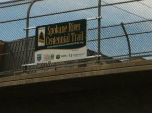 Spokane River Centennial Trail Hamilton Overpass